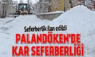 Palandöken Belediyesi'nden kar seferberliği