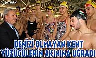 Denizi olmayan kent yüzücülerin akınına uğradı