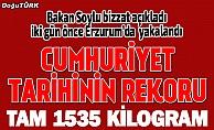 Erzurum'da Cumhuriyet tarihinin en büyük uyuşturucu operasyonu
