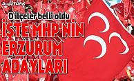 Resmen açıklandı: İşte MHP'nin Erzurum adayları