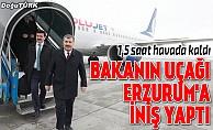 bBakan Koca#039;nın uçağı Erzuruma indi/b