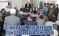 Başkan Öz: Ak Parti, belediyecilikte tüm ezberleri bozmuştur