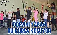 Oltu'da geleneksel okçuluk ve atıcılık kursu