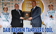 DAİB Başkanı Ethem Tanrıver'e ödül