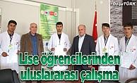 Oltu Mesleki ve Teknik Anadolu Lisesi'nden uluslararası çalışma