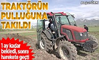 Erzurumlu çiftçi tarlasını işlerken buldu