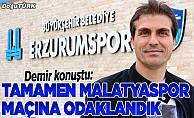 Erzurumspor, Yeni Malatyaspor maçına odaklandı
