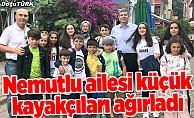 Aslı Nemutlu'nun ailesi genç kayakçıları İstanbul'da misafir etti