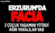 Erzurum'da feci kaza: 2 ölü, 4 yaralı