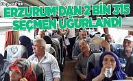 Erzurum'dan 2 bin 315 seçmen uğurlandı