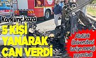 Korkunç kaza: 3'ü Atatürk Üniversitesi öğrencisi, 5 kişi öldü