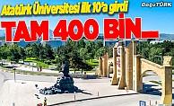 Atatürk Üniversitesi 400 bin öğrenciye ev sahipliği yapacak