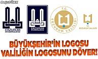 Büyükşehir'in logosu Valiliğin logosunu döver!