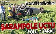 Erzurum'a gelirken kaza yaptılar