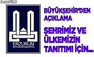 Erzurum Büyükşehir Belediyesi'nden açıklama