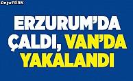 Erzurum'da çaldı, Van'da yakalandı