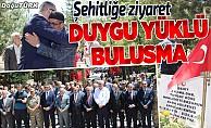 Erzurum'da şehitliğe ziyaret
