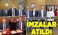 Atatürk Üniversitesi ile Rusya arasında iş birliği