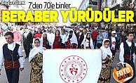 """Erzurum'da """"Beraber Yürüyelim"""" etkinliği"""