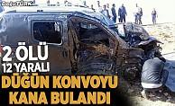 bErzurum#039;da düğün konvoyunda feci kaza: 2 ölü, 12 yaralı/b