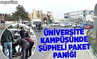 Üniversite kampüsünde şüpheli paket paniği