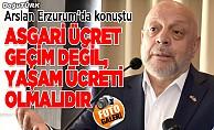Arslan, Erzurum'da şube kongresine katıldı