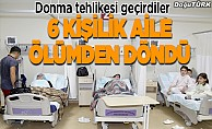 Erzurum'da 6 kişilik aile ölümden döndü
