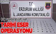 Erzurum'da tarihi eser operasyonu; Gözaltılar var