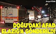 Doğu Anadolu'da kurtarma ekipleri, deprem nedeniyle Elazığ'a gönderildi