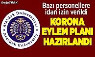 Atatürk Üniversitesi'nden Koronavirüs eylem planı