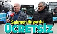 Erzurum'da sağlık çalışanlarına şehir içi ulaşım ücretsiz