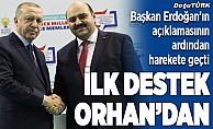 Erzurum'da ilk destek Orhan'dan