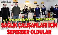Atatürk Üniversitesinden sağlık çalışanları için siperlik seferberliği