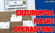 Erzurum'da maske operasyonu