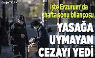 Erzurum'da yasağa uymayan 108 kişiye ceza