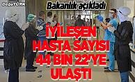 Türkiye'de Kovid-19'dan iyileşen hasta sayısı 44 bin 22'ye ulaştı