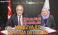 Atatürk Üniversitesi ile Malezya'dan ortak diploma