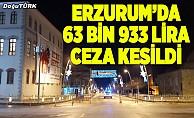 Erzurum'da 49 kişiye ceza