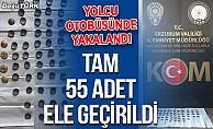Erzurum polisi yolcu otobüsünde yakaladı