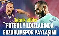 Dünyaca ünlü yıldızlar Erzurumspor'u kutladı