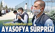 Palandöken Belediyesi'nden Ayasofya sürprizi