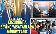 Sunar: Erzurum'a sevinç yaşatanlara minnettarız