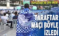 Taraftar maçı Havuzbaşı'nda izledi
