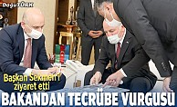 Ulaştırma ve Altyapı Bakanı Karaismailoğlu Büyükşehir'i ziyaret etti