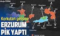 Korkutan gelişme; Erzurum ilk 10'da
