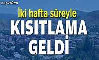 Erzurum'da Kovid-19 tedbirleri kapsamında bazı kısıtlamalar getirildi