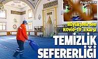 Büyükşehirin Kovid-19'a karşı temizlik seferberliği sürüyor