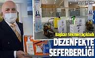 Erzurum Büyükşehir Belediyesi şehrin dört bir yanını dezenfekte edecek