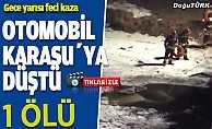 Erzurum'da otomobil Karasu Nehri'ne düştü: 1 ölü