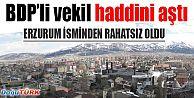 ERZURUM İSMİ, BDP'Lİ TAN'I RAHATSIZ ETTİ